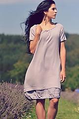 Šaty - Šedé šaty - 8400512_