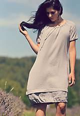 Šaty - Šedé šaty - 8400542_