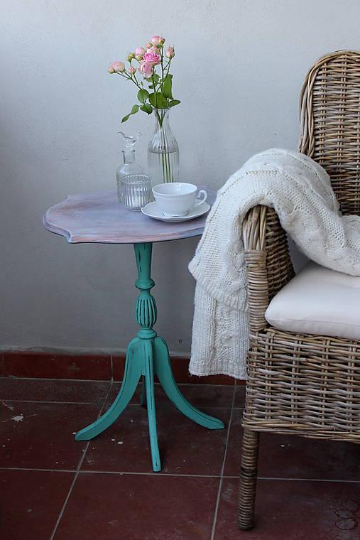 c1a0a79d61 Vintage stolček v tyrkysovej   HaM - SAShE.sk - Handmade Nábytok