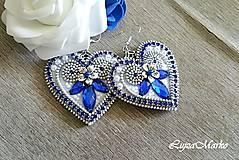 Náušnice - Srdiečko ľúbezné náušnice - 8400760_
