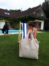 Nákupné tašky - Ľanová nákupná taška Mediteran Style - 8401497_