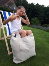 Nákupné tašky - Ľanová nákupná taška Mediteran Style - 8401500_
