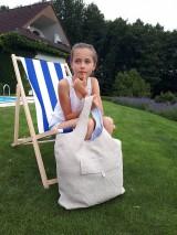 Nákupné tašky - Ľanová nákupná taška Mediteran Style - 8401501_