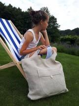 Nákupné tašky - Ľanová nákupná taška Mediteran Style - 8401502_