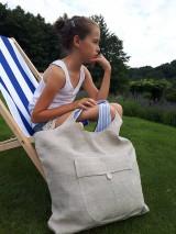 Nákupné tašky - Ľanová nákupná taška Mediteran Style - 8401503_