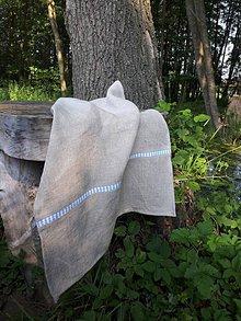 Úžitkový textil - Ľanová kuchynská utierka Mediteran Style - 8401361_