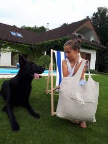 Nákupné tašky - Ľanová nákupná taška Mediteran Style - 8401496_
