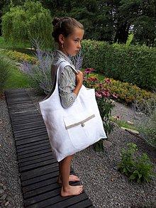 Nákupné tašky - Ľanová nákupná taška Dots Everywhere - 8401524_