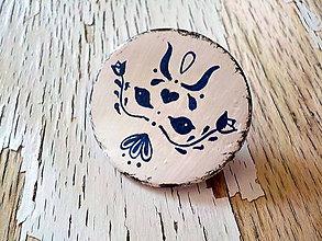 Odznaky/Brošne - maľovaná FOLKLÓRNA brošňa - 8401532_