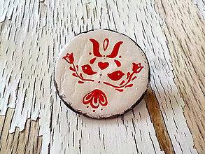 Odznaky/Brošne - maľovaná FOLKLÓRNA brošňa - 8401569_