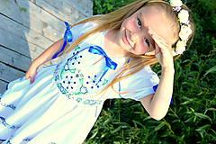Detské oblečenie - Folk šaty pre dievčatká - 8402473_