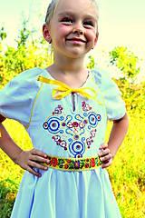 Detské oblečenie - Folk šaty pre dievčatká - 8402559_