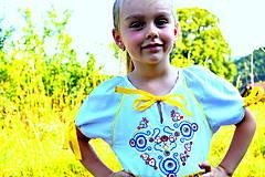 Detské oblečenie - Folk šaty pre dievčatká - 8402560_