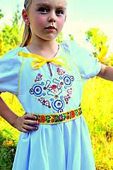 Detské oblečenie - Folk šaty pre dievčatká - 8402561_