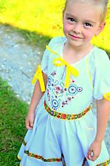 Detské oblečenie - Folk šaty pre dievčatká - 8402566_