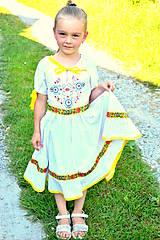 Detské oblečenie - Folk šaty pre dievčatká - 8402567_