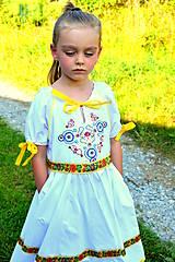 Detské oblečenie - Folk šaty pre dievčatká - 8402568_