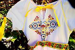 Detské oblečenie - Folk šaty pre dievčatká - 8402581_