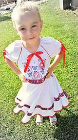 Detské oblečenie - Folk šaty pre dievčatká - 8402637_