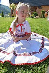 Detské oblečenie - Folk šaty pre dievčatká - 8402641_