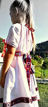 Detské oblečenie - Folk šaty pre dievčatká - 8402647_
