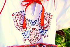 Detské oblečenie - Folk šaty pre dievčatká - 8402672_