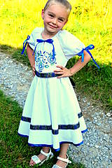 Detské oblečenie - Folk šaty pre dievčatká - 8402719_