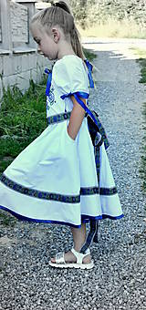 Detské oblečenie - Folk šaty pre dievčatká - 8402734_