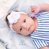 Detské doplnky - Čelenka na fotenie či bežné nosenie ČISTOTA - 8403550_