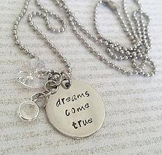 Náhrdelníky - DREAMS COME TRUE náhrdelník so swarovski - 8402190_
