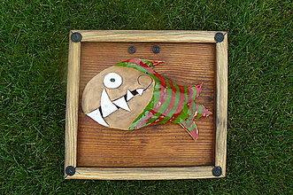 Dekorácie - Ryba v ráme - 8403421_