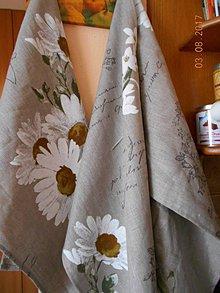 Úžitkový textil - Ľanová utierka s vidieckym šarmom... - 8403895_