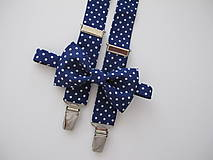 - Detský motýlik a traky- bodkovaný set - 8404374_
