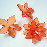 Korálky - Kvet plast 29mm-oranž-1ks - 8402420_