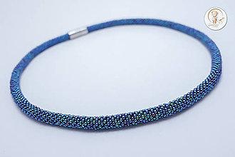 """Náhrdelníky - Háčkovaný náhrdelník """"Midnight"""" - 8403203_"""