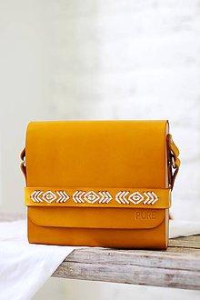 Kabelky - Vyšívaná kabelka na rameno BOHEMIAN CLUTCH (HONEY) - 8403689_