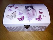 Krabičky - Veľká šperkovnica - V objatí motýľov - 8403305_