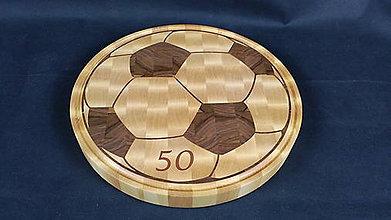 Pomôcky - Doska na krájanie s intarziou futbalovej lopty - 8401994_