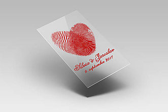 Darčeky pre svadobčanov - Svadobné etikety - odtlačok srdca - 8404454_