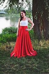 Sukne - Kruhová saténová sukňa - 8404084_