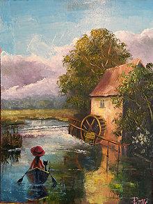 Obrazy - U starého mlýna - 8404316_