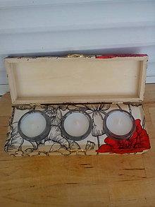 Svietidlá a sviečky - Svietnik na tri čajové sviečky MAK - 8402694_