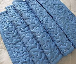Úžitkový textil - Modrá zástena - vlny - 8402558_