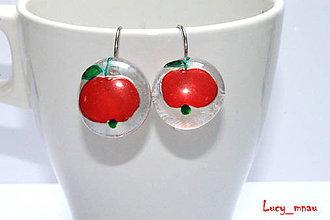 Náušnice - Náušničky červené jabĺčka :) - 8402710_