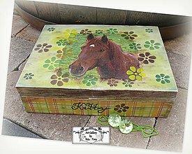 Krabičky - Sperkovnica s koníkom :) - 8404402_