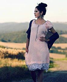 Šaty - Růžové šaty - 8402711_