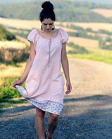 Šaty - Růžové šaty - 8402713_