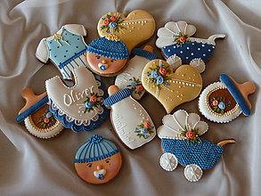 Dekorácie - Darčekove medovníčky na krst - 8406880_