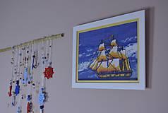 Obrázky - Vyšívaný obraz Loď na mori...Deň - 8407159_