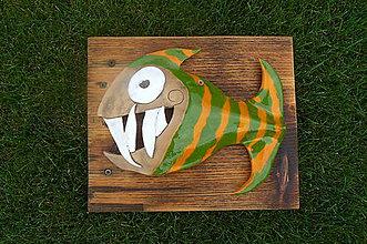 Dekorácie - Ryba na dreve - 8404667_